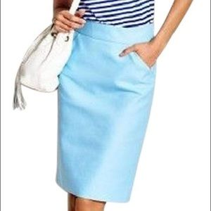 Jcrew | baby blue pencil skirt • 8